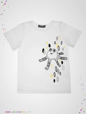 eloisbio-monsters tshirt blanc