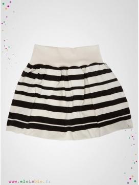 "Jupe boule ""Stripe"" rayée noire"