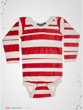 "Body ""Stripe"" rayé rouge"