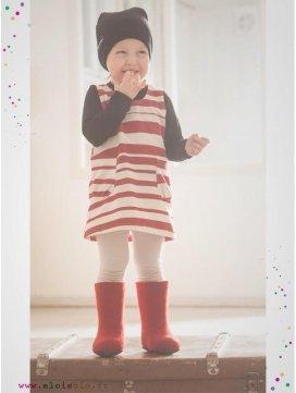 "Robe ""Stripe"" rayée rouge"