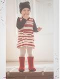 eloisbio-enfant-robe-rayuresrouges-fondgris