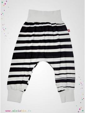 """Pantalon Baggy """"Stripe""""rayé noir"""