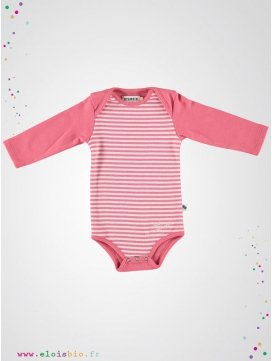 Body enfant rayé rose
