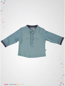 T-shirt enfant col Tunisien bleu