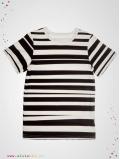 "T-shirt ""Stripe"" manches courtes"