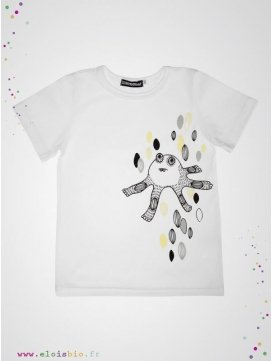 eloisbio-monsters tshirt blanc