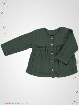 Blouse enfant 5 boutons sapin