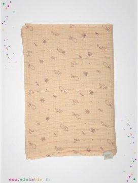 Lange 120X120cm Appleblossom motifs bergamote