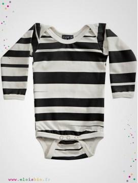 "Body enfant ""stripe"" rayé noir"