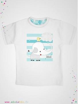 eloisbio-ts1421 minizabi t-shirt-gar++ƒon-blanc & elephant