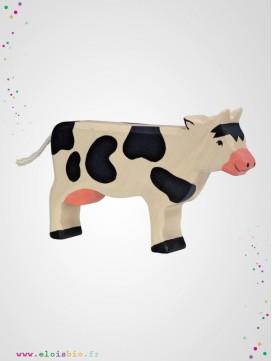 Vache debout noire en Bois