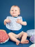 Bavoir bébé et enfant imprimé eucalyptus