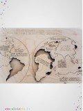 planisphère les continents du monde