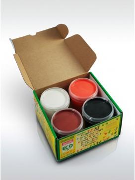 Peintures-doigts-orange-marron-blanc-noir-okonorm-ELOisBIO