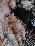 Salopette bébé rose