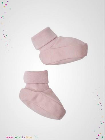 Chaussons bébé rose
