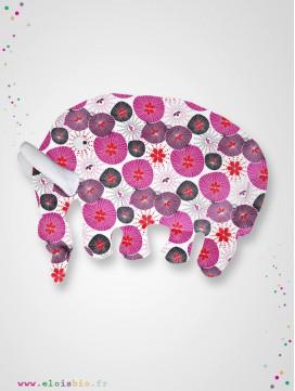 Doudou Éléphant fleurs japonaise