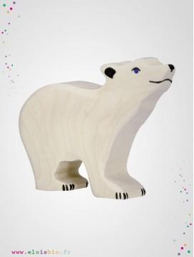 Petit ours polaire en bois