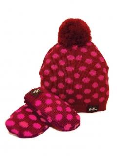 c098372177a ... eloisbio-ensemble bonnet- moufle en laine bordeaux bellio