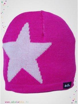 "Bonnet Etoile ""Stjärna"" Cerise"
