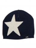 eloisbio-bonnet en laine etoile marine-bleu bellio
