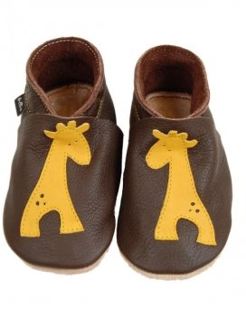 eloisbio-chausson giralf marron-jaune bellio