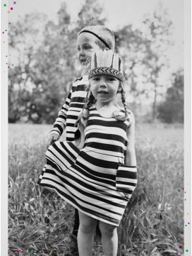"Robe ""Stripe"" rayée noire"