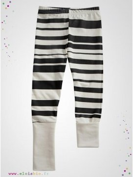 "Leggings ""Stripe"" rayé noir"