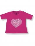 eloisbio-ts09 tee shirt manches courtes interlock rose violette coeur