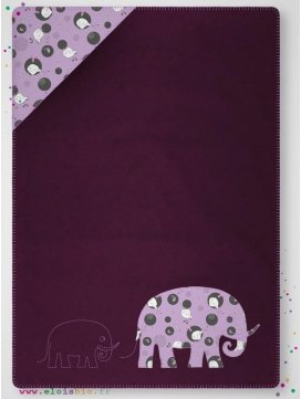 "Couverture polaire prune ""mini-poule"""