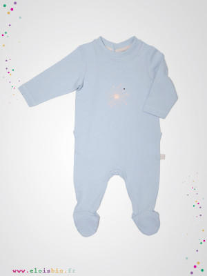 eloisbio-pyjama bleu bebobio