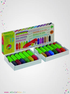 eloisbio-mini crayon cire boite de 12